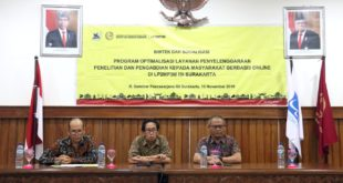 Bimtek dan Sosialisasi Program Optimalisasi Layanan Penyelenggaraan Penelitian dan PPM Berbasis Online di LP2MP3M ISI Surakarta 2019