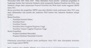 Pengumuman Peluncuran Buku Panduan Penelitian dan PKM Edisi XIII 2020