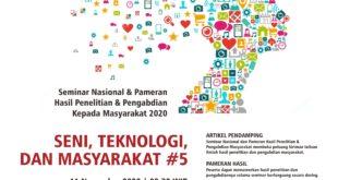 Webinar Seni,Teknologi dan Masyarakat #5